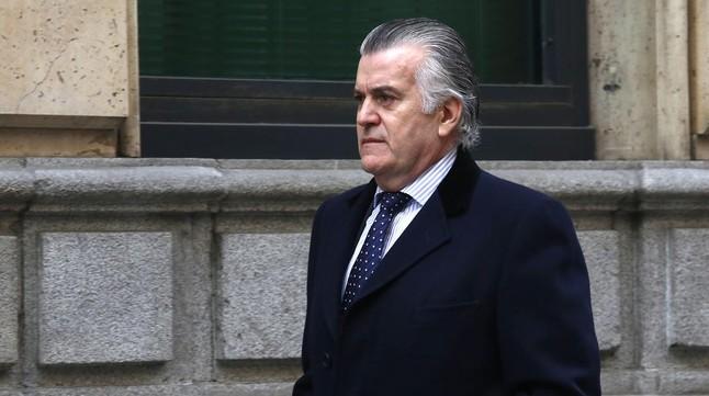 Luis Bárcenas acude a firmar a la Audiencia Nacional, el pasado 20 de febrero.