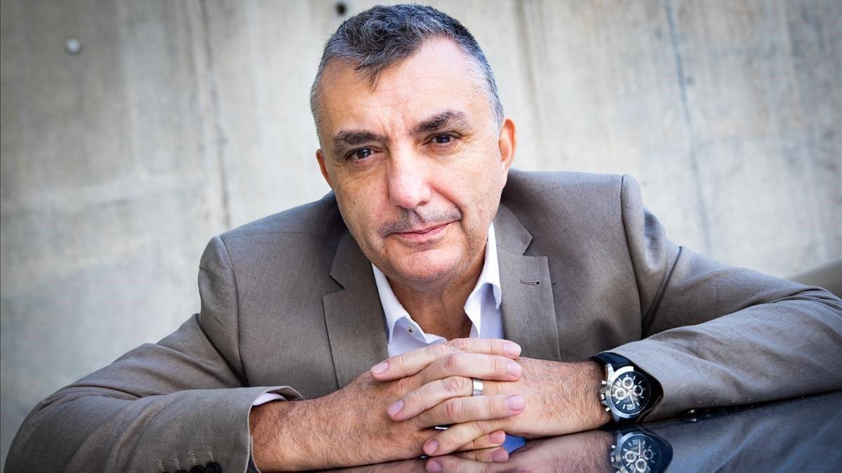 El escritor Manuel Vilas,en unhotel de Barcelona.