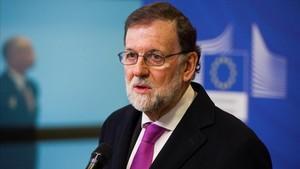 Mariano Rajoy, antes de la conferencia sobre el Sahel.