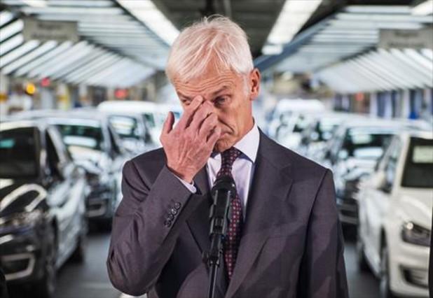 Matthias Müller, presidente de Volkswagen, en la fábrica de Wolfsburg.