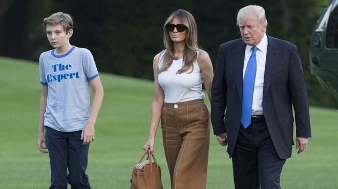 La familia del presidente permanecía en Nueva York desde las elecciones.