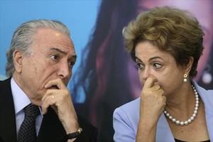 Michel Temer y Dilma Rousseff, en una imagen de agosto pasado.