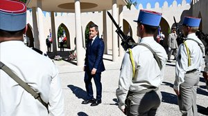 El ministro del Interior en una ceremonia en honor a los soldados musulmanes que participaron la primera guerra mundial.