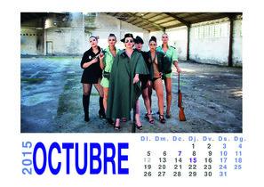 Mireia Boya (CUP) vestida de guardia civil para el calendario de su pueblo en el 2015.
