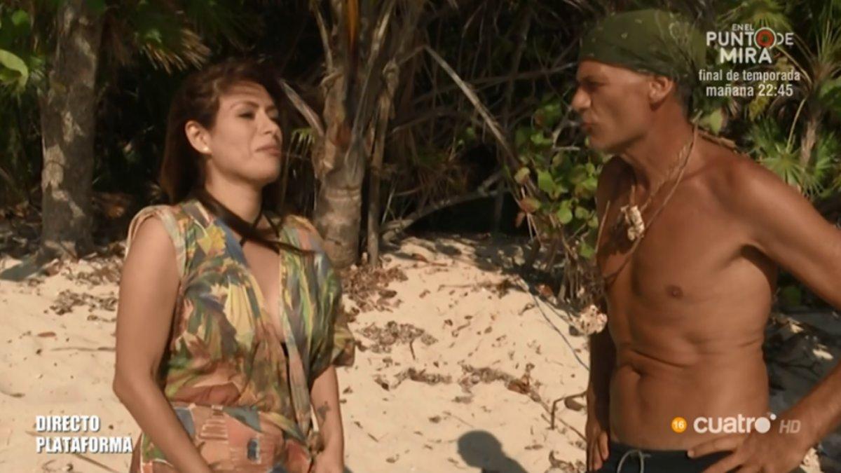 Miriam Saavedra y Carlos Lozano en 'Supervivientes'.