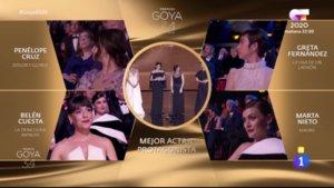 Momento en el que un espontáneo grita 'Estefanía' en los Premios Goya.