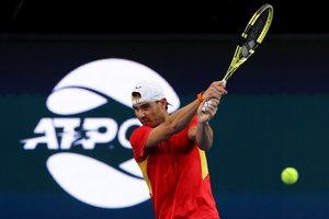 Rafael Nadal, en pleno entrenamiento.