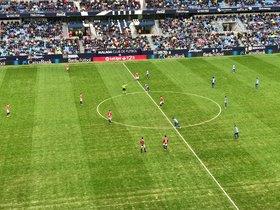 Imagen del Málaga-Nàstic, con victoria local por 2-0.