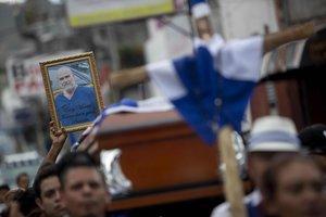 Entierro de Eddy Montes, opositor al Gobierno de Daniel OrtegaenNicaragua.