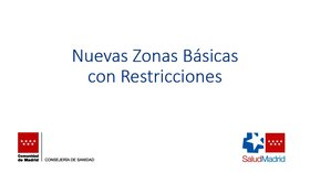 Las nuevas zonas afectadas por el cierre perimetral en Madrid, a 25 de septiembre de 2020.