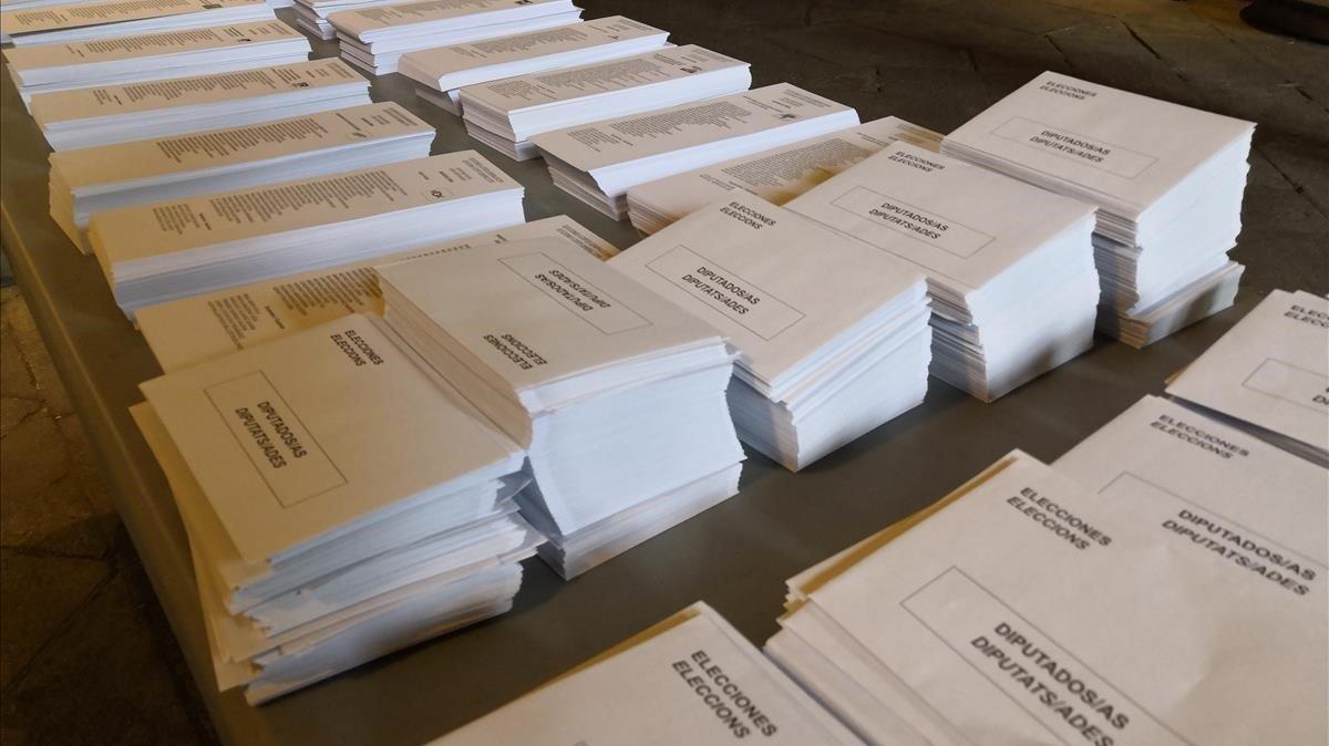 Papeletas de las elecciones generales