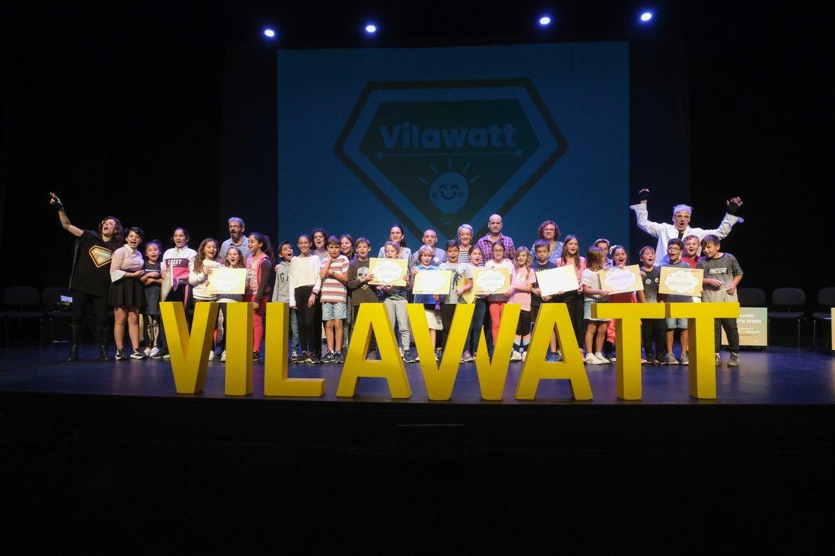 Participantes en el acto del Vilawatt Escuelas.