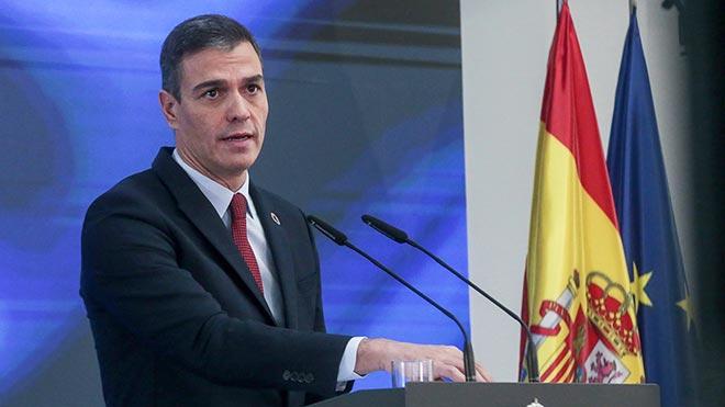 El presidente del Gobierno, Pedro Sánchez, durante su presentación del plan de recuperación, este 7 de octubre en la Moncloa.