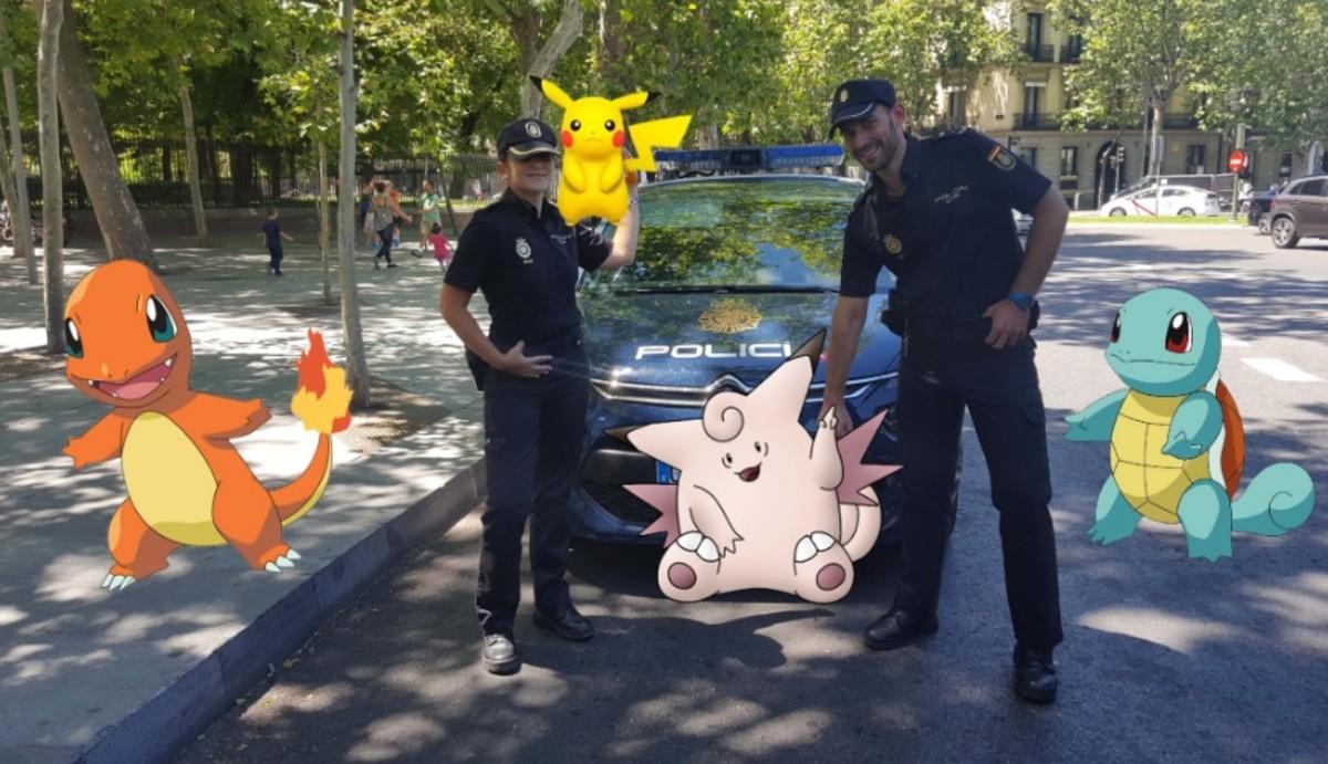 Imagen que acompaña al tuit de la Policía Nacional que contiene advertencias y consejos para jugar a Pokémon Go.