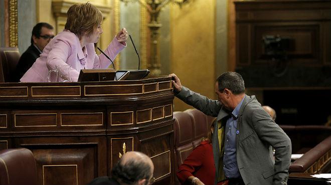 El portavoz de Compromís Joan Baldoví sufre un desmayo en el Congreso