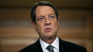 El presidente de Chipre Nicos Anastasiades.