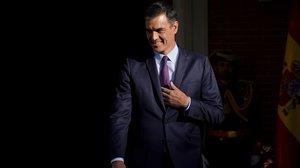 El presidente del Gobierno en funciones, Pedro Sánchez, en la Moncloa, el pasado junio.