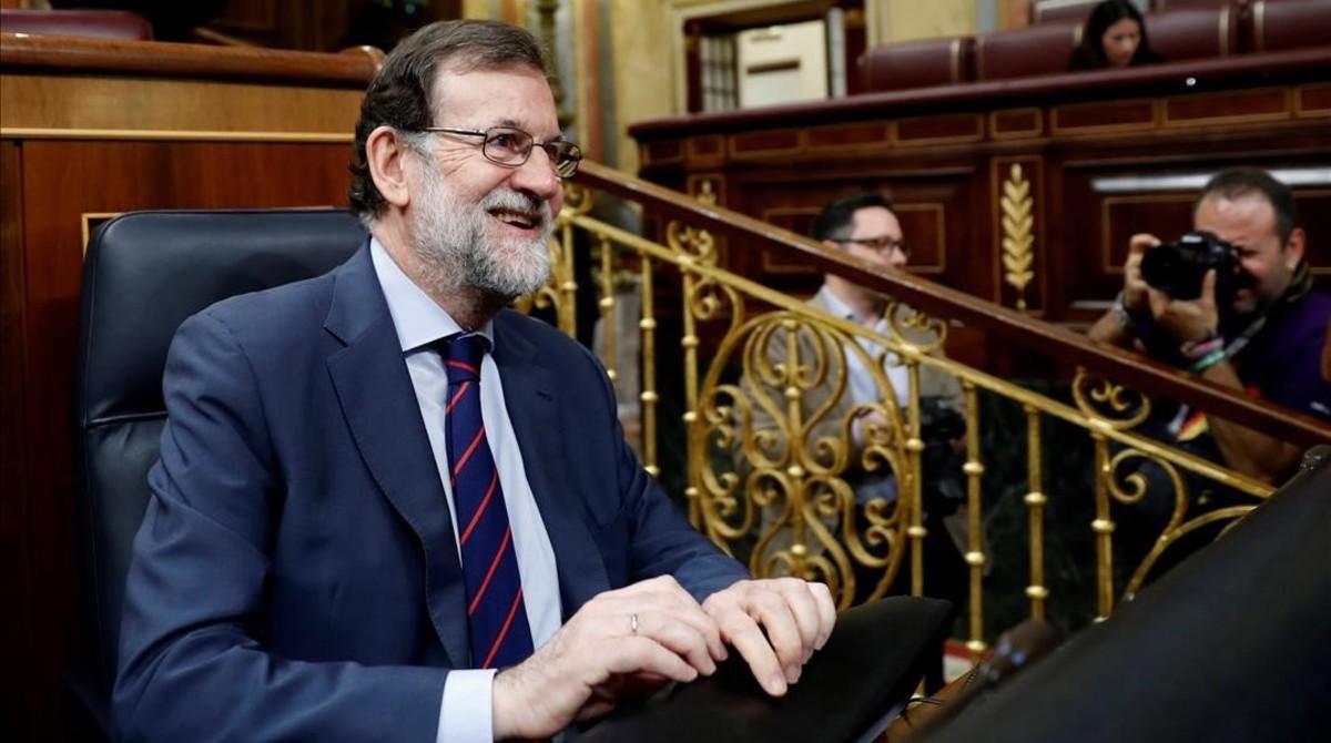El presidente Mariano Rajoy al inicio de la sesión.