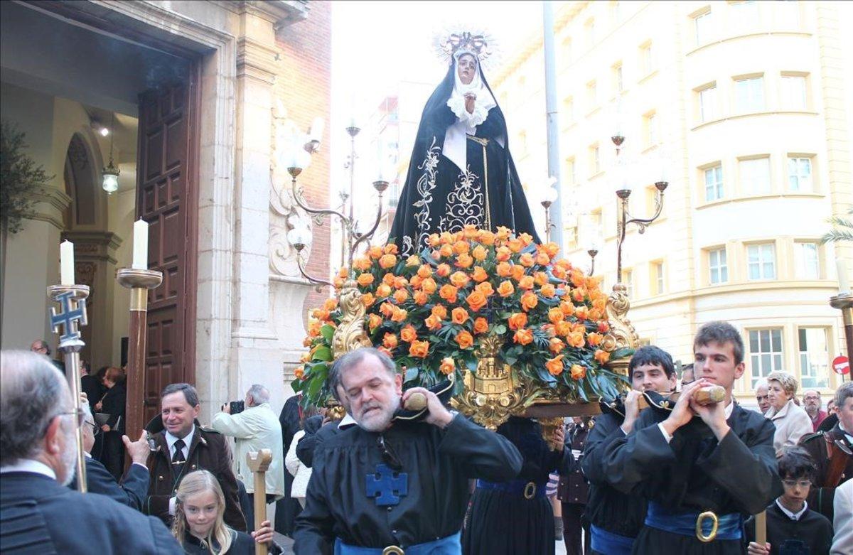 Procesión del Santo Entierro, en Castellón.