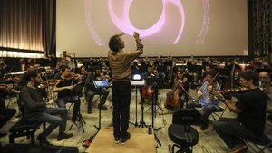 Imagen de archivo de la Orquesta Sinfonica,dirigida por el maestro Anthony Gabriele.