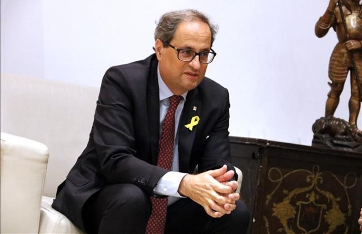 El presidentde la Generalitat, Quim Torra