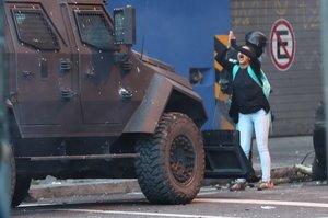 La joven ecuatoriana se ha convertido en el símbolo de la protesta en Quito.