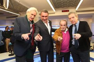 Luis del Olmo. Carlos Herrera, José María García e Iñaki Gabilono, en el programa matinal 'Herrera enla COPE'.