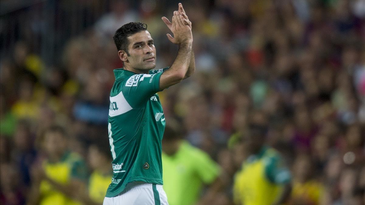 Rafa Márquez, en un partido con su selección