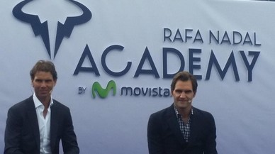 Nadal pasea a Federer por su nueva academia
