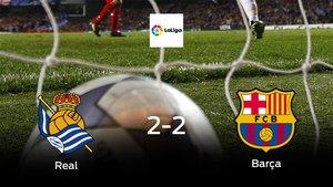 La Real Sociedad y el Barcelona empatan y suman un punto a su casillero (2-2)