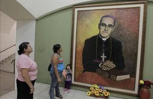Retrato del arzobispo de San Salvador, Oscar Arnulfo Romero.