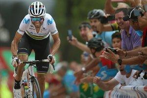 Alejandro Valverde, el año pasado, en la victoria de Mas de la Costa, en la Vuelta 2019.