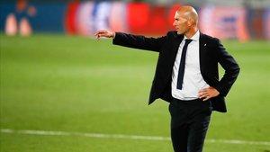 Zinedine Zidane, durante el partido contra el Mallorca.