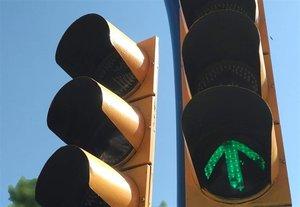 Imagen de archivo de un semáforo.