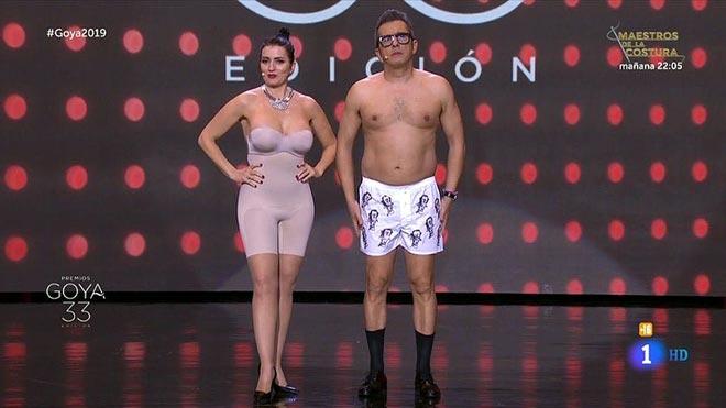 Silvia Abril y Buenafuente (Premios Goya).