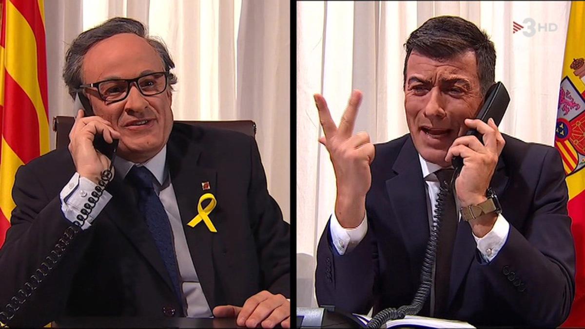 Sánchez y Torra,en Polònia (TV-3).