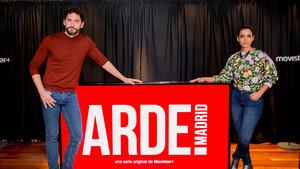 Paco León e Inma Cuesta, en la presentación de la serie de Movistar+ 'Arde Madrid'.