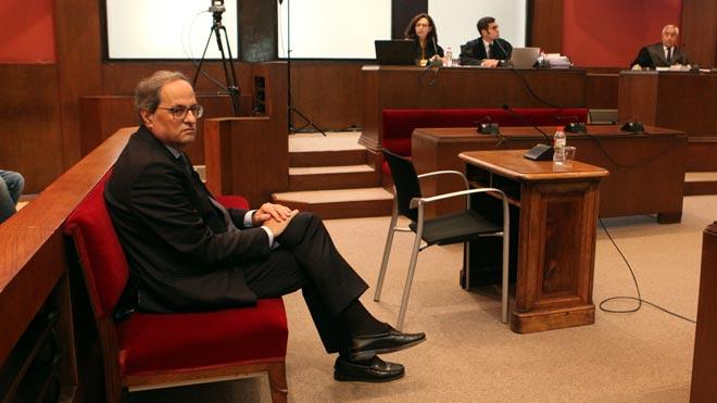 Torra llega al Tribunal de Justicia para ser juzgado por desobediencia.
