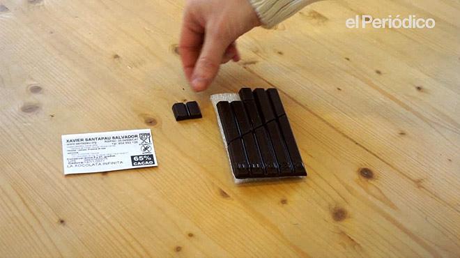 El truco del chocolate infinito, cómo comer una onza sin que se note.