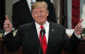 Donald J. Trump presumió de una gestión que se ha traducido en un boom económico sin precedentes.
