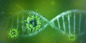 Una imagen recreada del coronavirus.