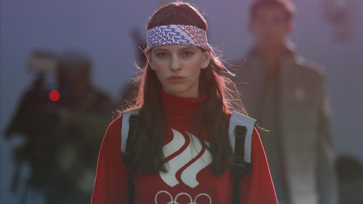 Una modelo presenta recientemente el equipamiento olímpico de Rusia para los Juegos de Pyeongchang.