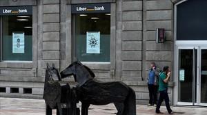 Una oficina de Liberbank en Oviedo.