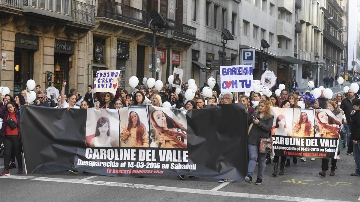 Concentración este domingo en Barcelona por Caroline del Valle.