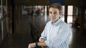 Mark Duggan, en la facultad de Economía de la Universitat de Barcelona (UB).