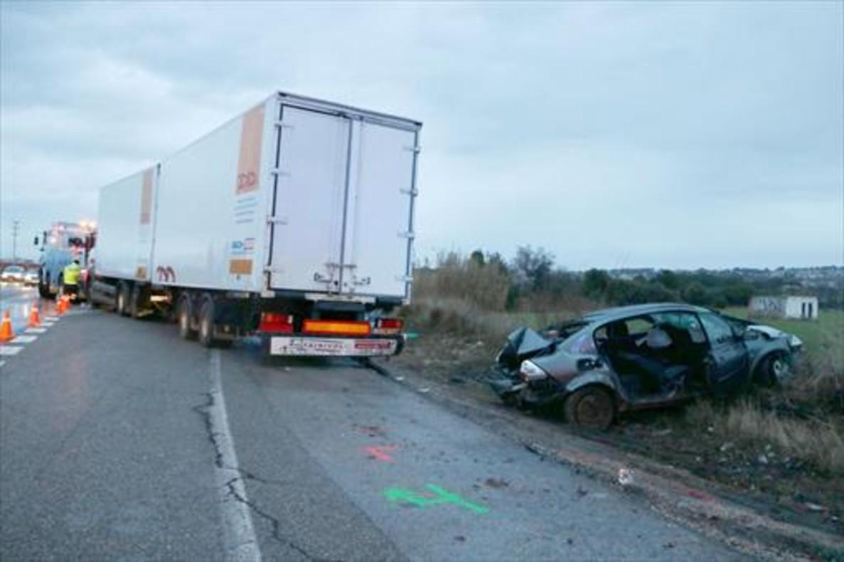 Vehículos involucrados en el accidente del domingo en la N-340.