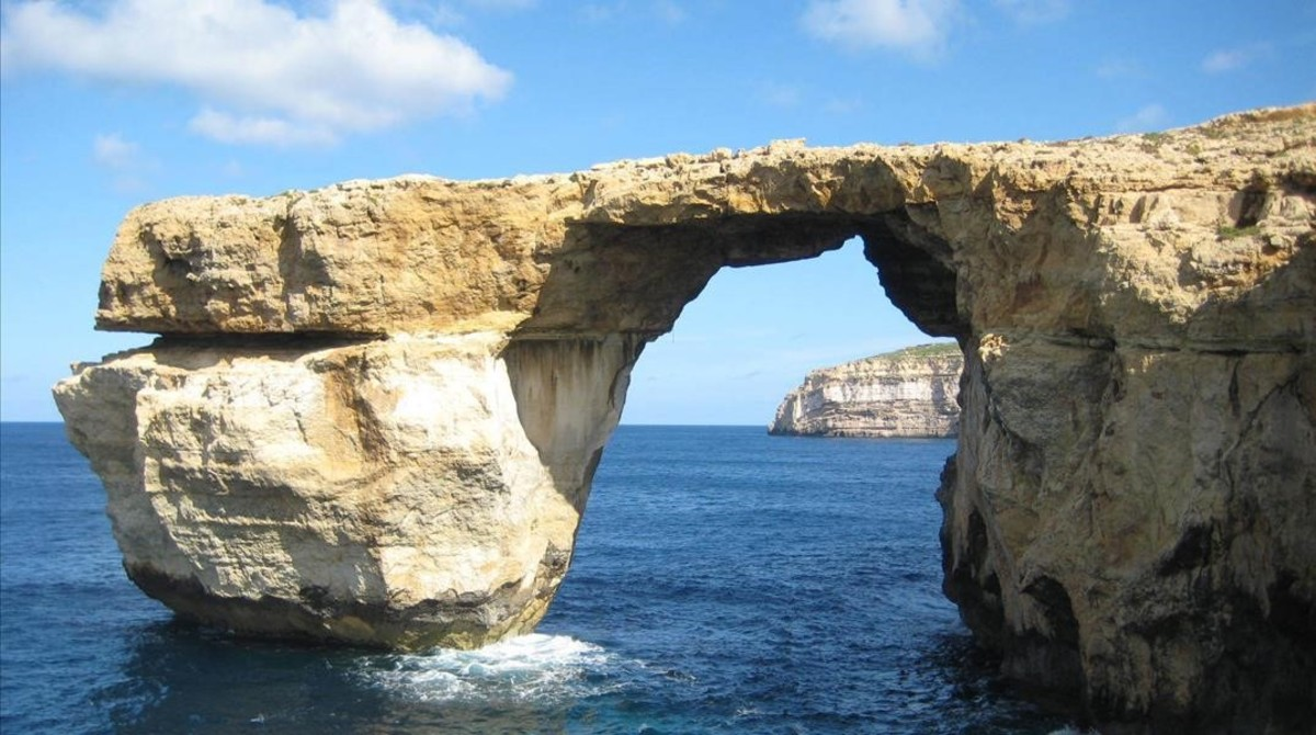 La Ventana Azul de Malta ha desaparecido por un temporal.