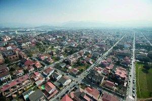 Vista aérea del municipio de Parets.