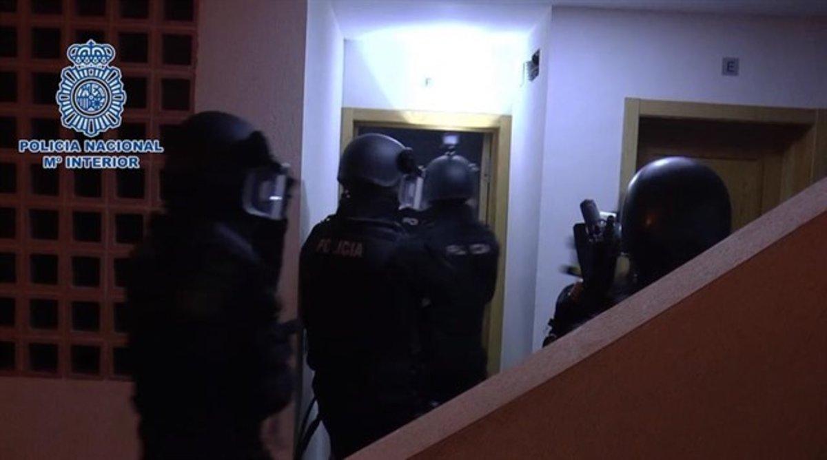 Detención policial del yihadista en Málaga.