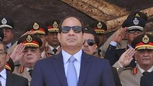 Al Sisi, durante la celebración de un acto militar.
